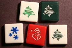Custom SCRABBLE tile: Holiday Blanks