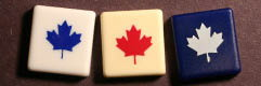 Custom SCRABBLE tile: Maple leaf blanks