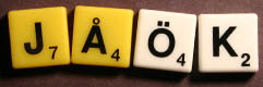 Sample Swedish custom SCRABBLE tiles