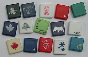 Sample custom blank SCRABBLE tiles