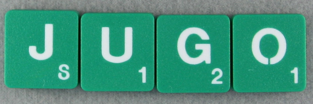 SCRABBLE tile style M39W-T Emerald Green tile with white letter, Textured surface