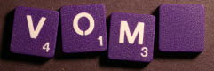 SCRABBLE tile style M51W-T : Plum Crazy purple tile with white letter, Textured surface